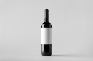 In de dag Wijn Wine Bottle Mock-Up. Blank Label