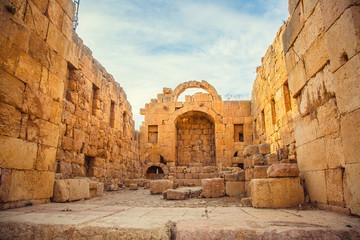 Roman ancient ruins. city of Jerash, Jordan