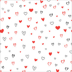 Love heart seamless pattern Valentine's day seamless background.