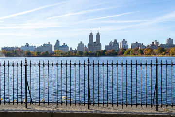 Iconic views of the Upper West Side by the Central Park Reservoi