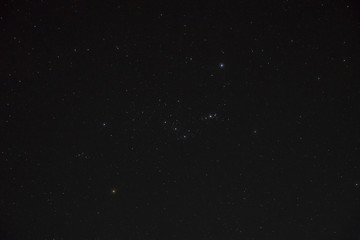 night sky with orion