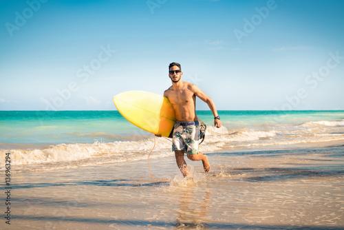 Surfer Beach Lifestyle People