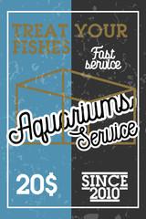 Color vintage aquariums service banner