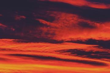 Beautiful Red And Orange Summer Sunset Sky