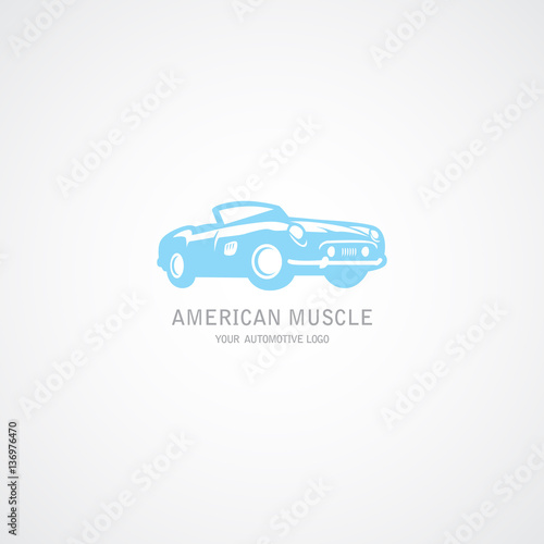 quotcar american muscle logo and illustrationquot stock image