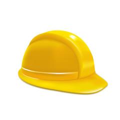 Realistic Yellow Helmet or Hat. Vector