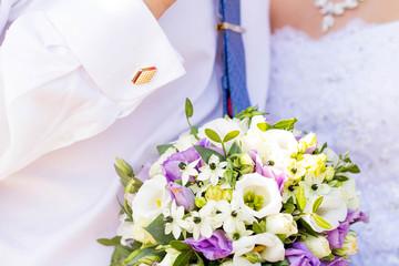 wedding accessories, Bridal bouquet, groom cufflink