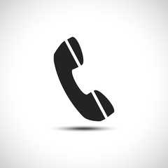 Isolated Phone Flat Web Icon. Vector Symbol.