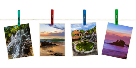 Bali Indonesia travel images (my photos) on clothespins