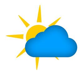 słońce za chmurą