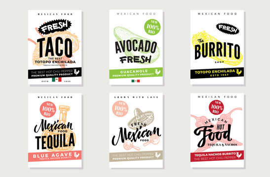 Sketch Mexican Food Posters