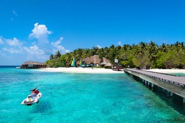 Jet ski at Maldives beach Wall mural