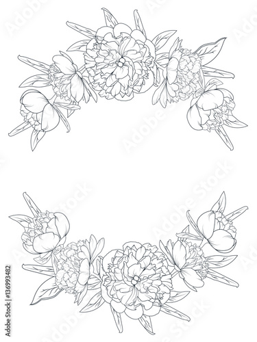 Flower Flower Border Drawing Design