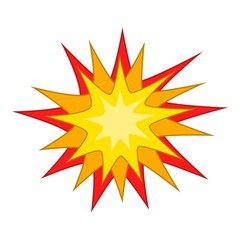 Starburst icon, cartoon style