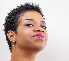 Beautiful Black Woman And Her Beautiful Hair