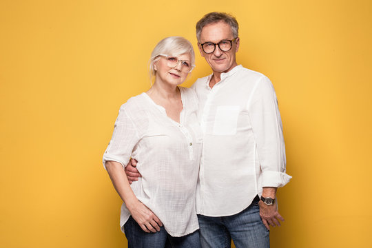 Happy senior couple posing.