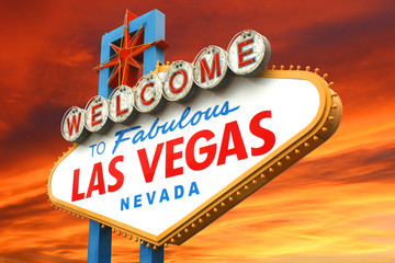 Aluminium Prints Las Vegas Welcome to fabulous Las Vegas sign