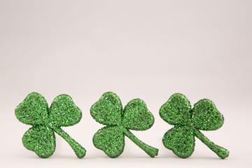 Three St Patrick's Day Shamrocks