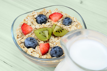 oat cereal on table