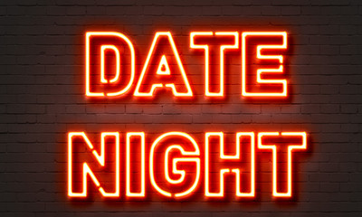Date night neon sign
