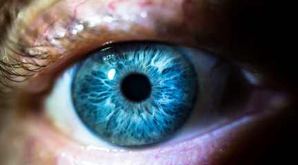 Fond de hotte en verre imprimé Iris Close up, human eye
