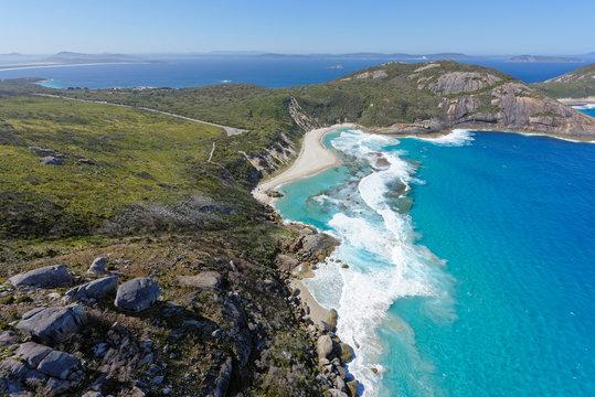 Aerial view of Isthmus Bay near Albany, Western Australia