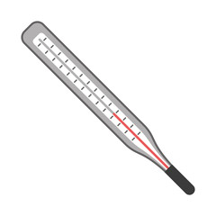 thermometer scale measuring icon vector illustration eps 10