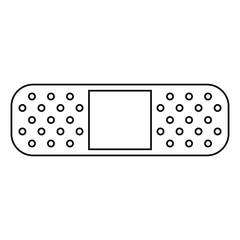 medical plaster bandage adhesive thin line vector illustration eps 10