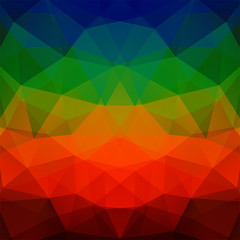 Abstract polygonal vector background. Colorful geometric vector illustration. Creative design template. Green, blue, red, orange, brown colors.