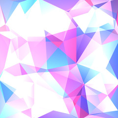 Abstract geometric style light background. Vector illustration. Pink, blue, white colors.