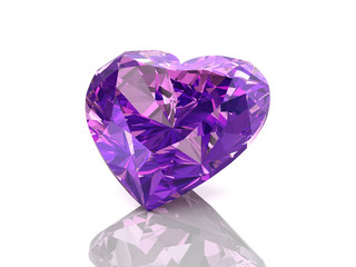 amethyst on white background Wall mural