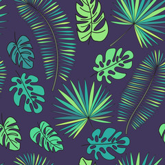 Vector seamless tripical pattern