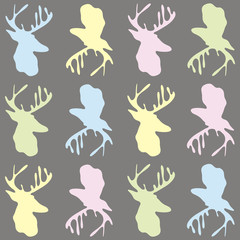 vector background with images of deer. It can be used to design websites, postcards, etc.