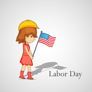 illustration of elements of labor day background