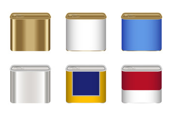 set of a steel canned food box