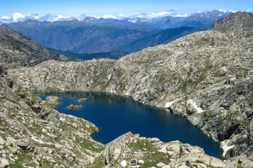 "Lake of Saburo.""Chariots of fire"" trail. Pyrenees mountain."