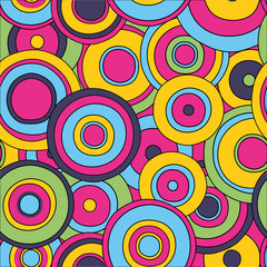 psychedelic circles seamless pattern