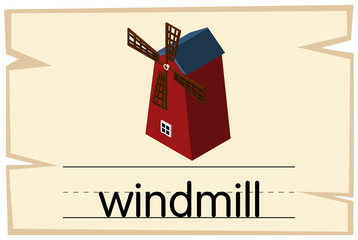 Wordcard design for word windmill