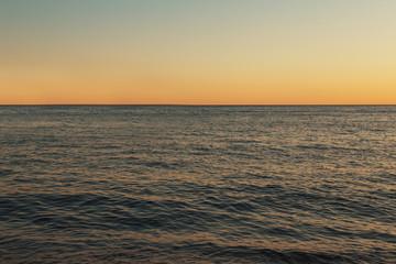 Sunset or sunrise over the sea