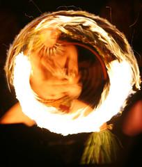 Fire breather dancer