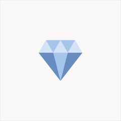 diamond icon flat design