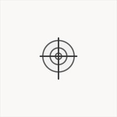 aim icon flat design