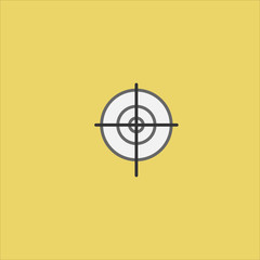 aim icon flat design