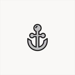 anchor icon flat design