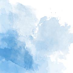 Fototapeta Blue watercolor background vector obraz