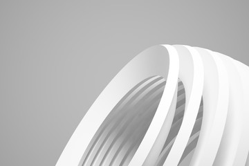 Abstract Architecture Background. Empty White Futuristic Room. 3d Render Illustration