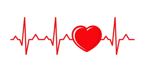 Vector illustration cardiogram