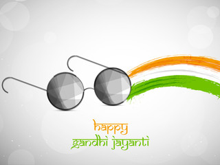 illustration of elements of Happy Gandhi Jayanti Background. Gandhi Jayanti is a national festival celebrated in India to mark the occasion of the birthday of Mohandas Karamchand Gandhi