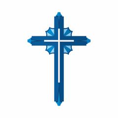 Christian symbol. Cross of the Lord and Savior Jesus Christ.