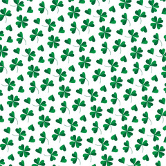 small clover background pattern on white